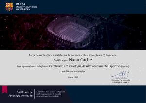 Nuno Cortez Psicologia Alto Rendimento Desportivo barcelona